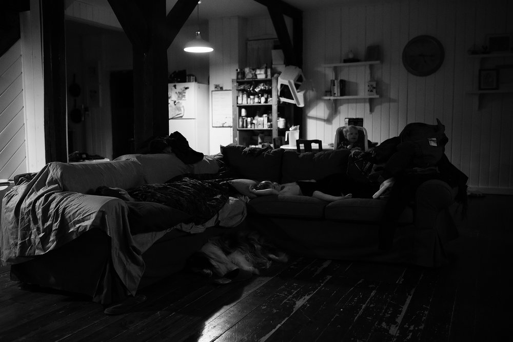 36. 365 - It was a rough night for my middle guy. Up at 2 a.m. Daddy finally got him to sleep on the couch downstairs. On the other hand, my little miss had an excellent night's sleep and was up at 5 a.m. ready to party. So this was my view on this early this morning.
