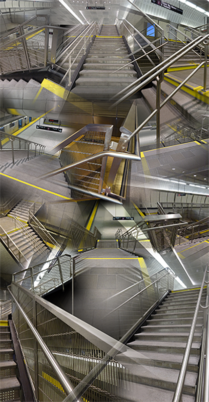 34th Street Station (Stairs) , 2016, Digital  print, 48 x 96""