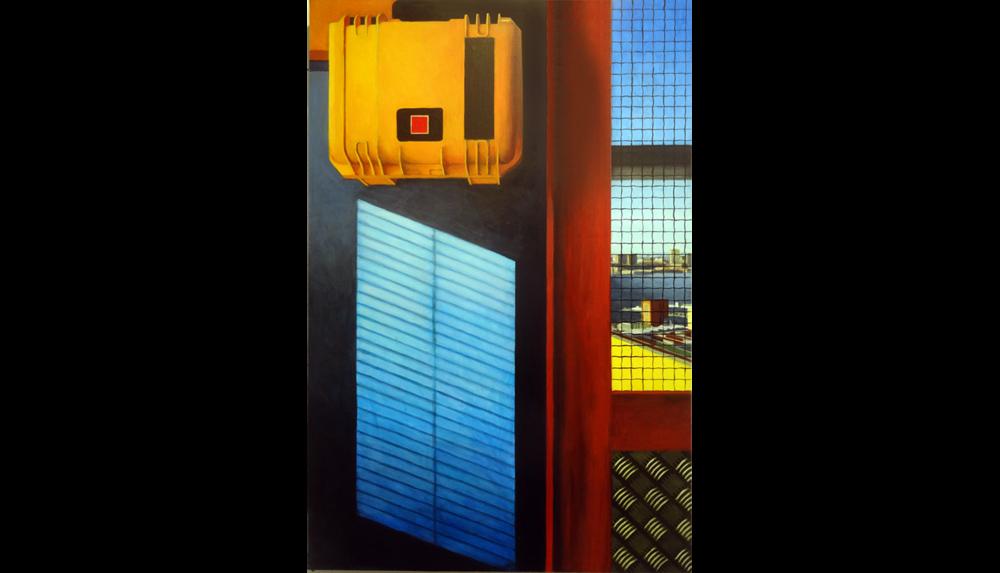 "Hudson Yards 10 , 2015, Acrylic on board, 24 x 36"""