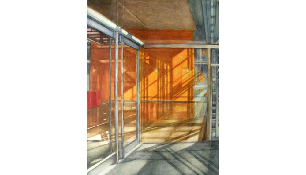 Study for Shadows & Reflections 2 , 2009, Acrylic on paper, 15 x 20""