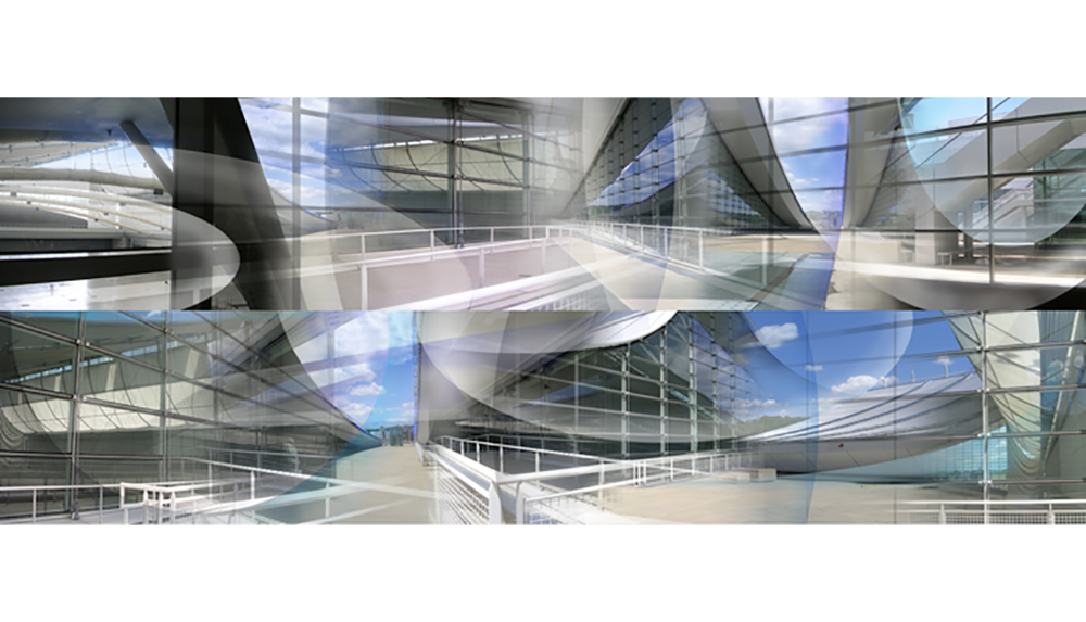 Lawrence Convention Center,  2008, Digital print on paper, 20 x 50.75""