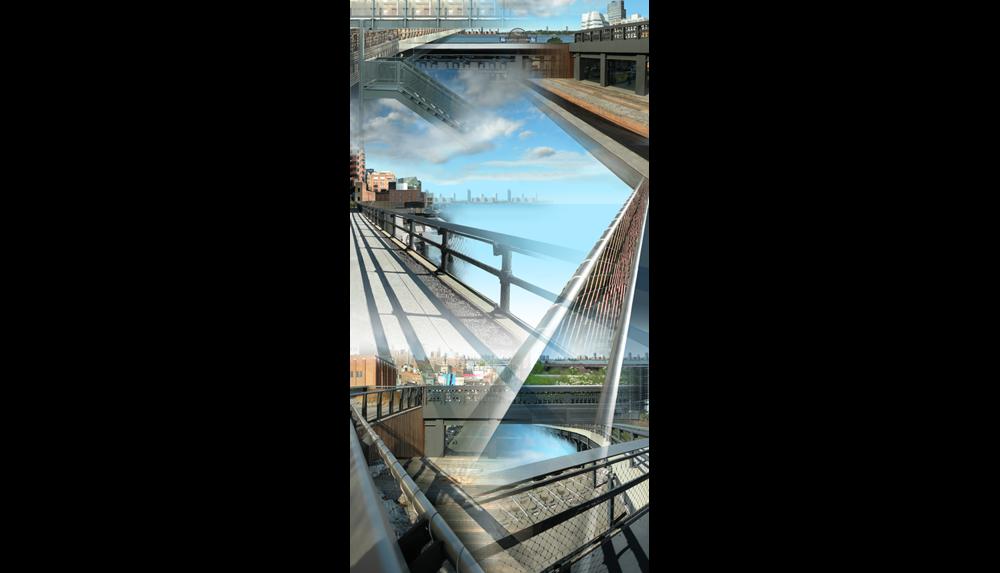 "High Line Eight (Les Vues) , 2010, Digital C print, 26 x 50"""