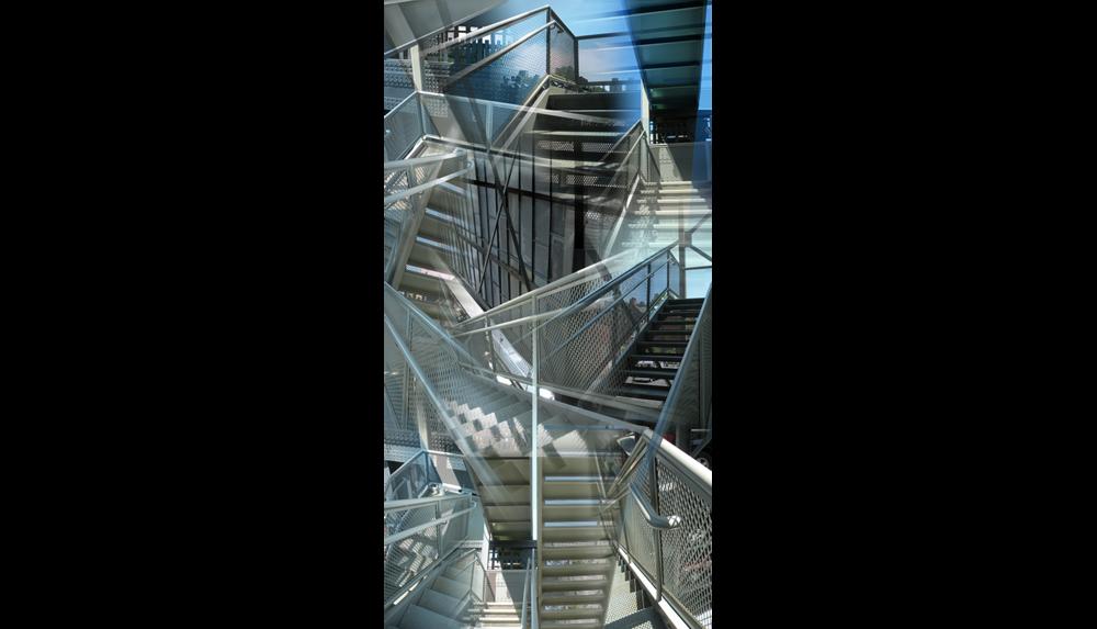 "High Line Three (L'escalier) , 2009, Digital C print, 26 x 50"""