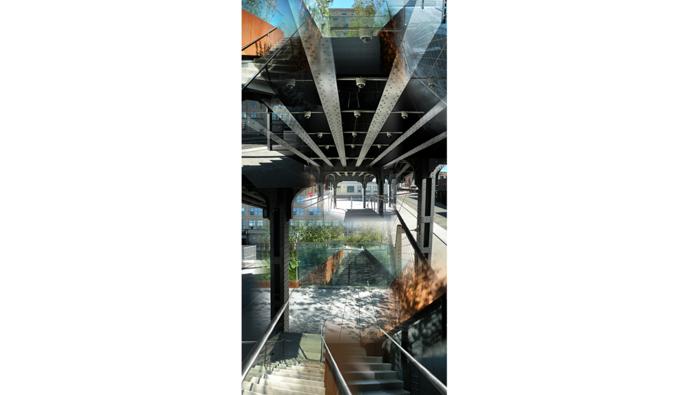 "High Line Six (Gansevoort) , 2010, Digital C print, 26 x 50"""
