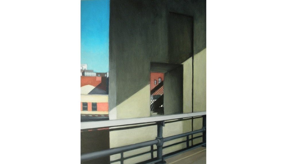 High Line View Two,  2010, Acrylic on board, 16 x 20""