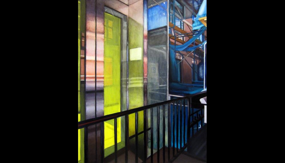 "High Line (View Six) , 2012, Acrylic on board, 18 x 24"""