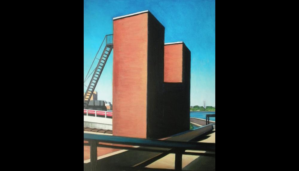"High Line View Three,  2010, Acrylic on board, 16 x 20"""