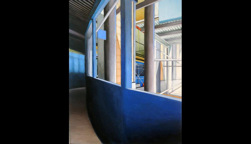 "Construction,  2011, Acrylic on board, 18 x 24"""
