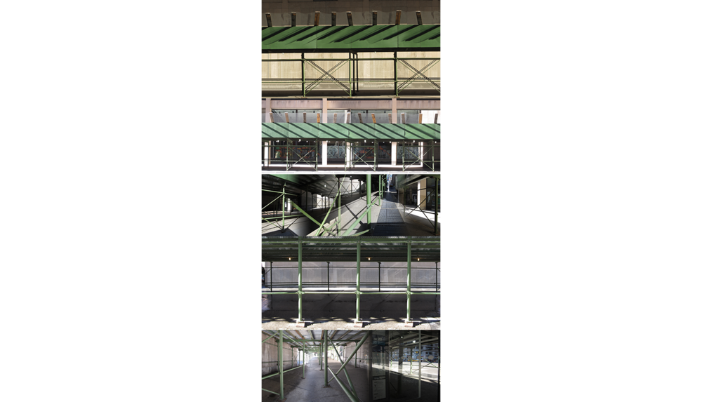 Green Scaffolding , 2012, Digital print on sintra, 48 x 21""