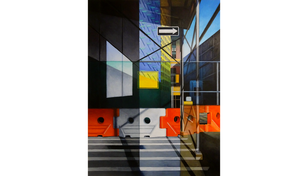 Houston Street , 2017, Acrylic on board, 30 x 40""