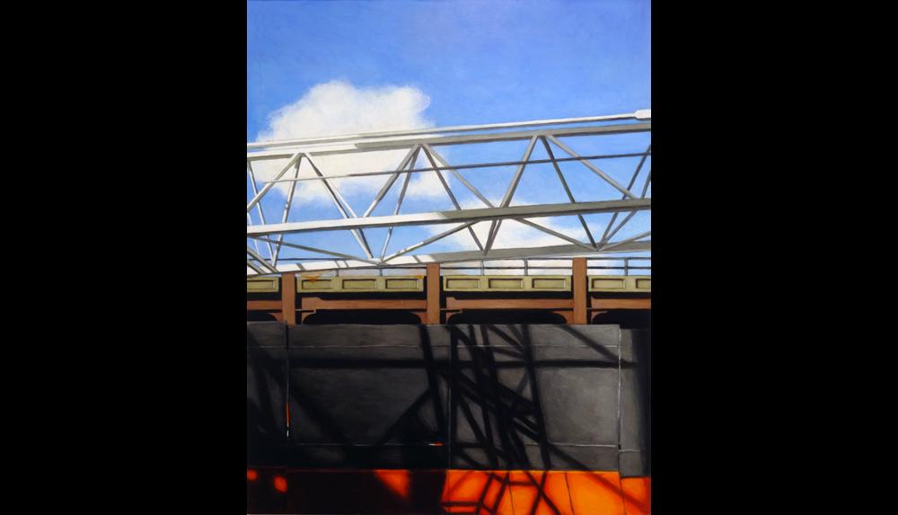 "Hudson Yards 2, 2015, Acrylic on board, 18 x 24"""