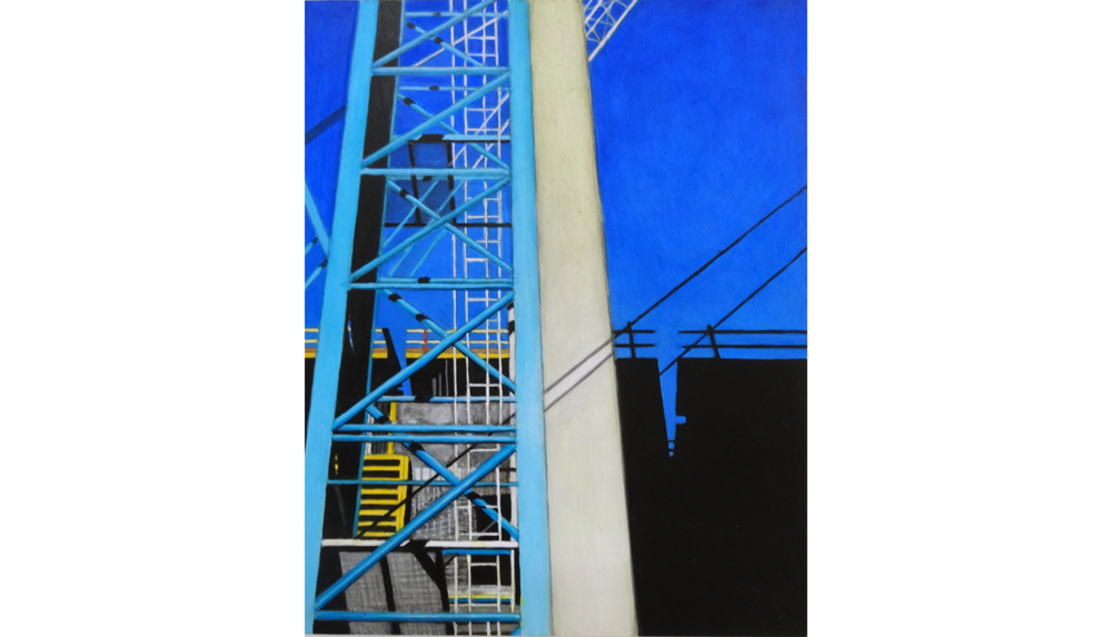 Hudson Yards 3, 2014, Acrylic on board, 11 x 14""