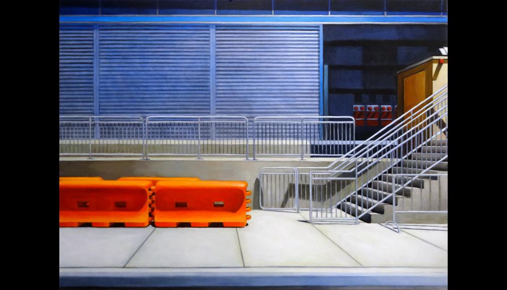 "Hudson Yards 6, 2015, Acrylic on canvas, 30 x 40"""