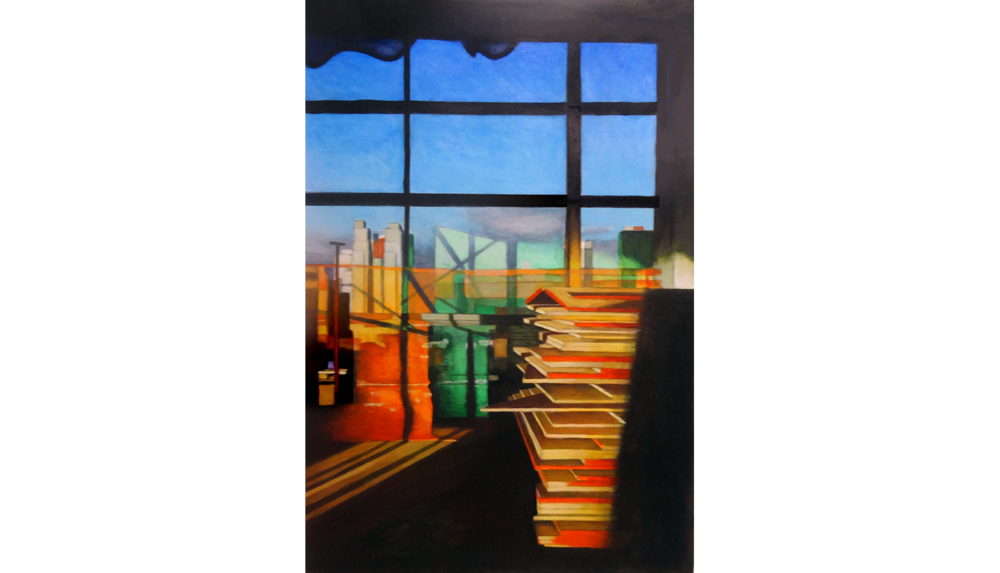 Hudson Yards 11,  2015, Acrylic on paper, 18 x 27""