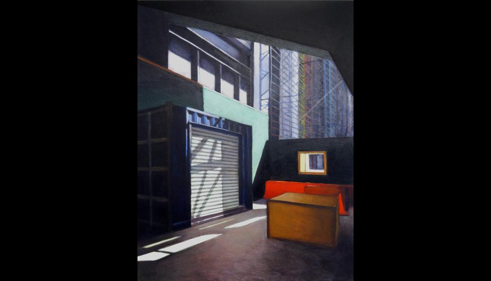 "Hudson Yards 9, 2015 , Acrylic on board, 12 x 16"""