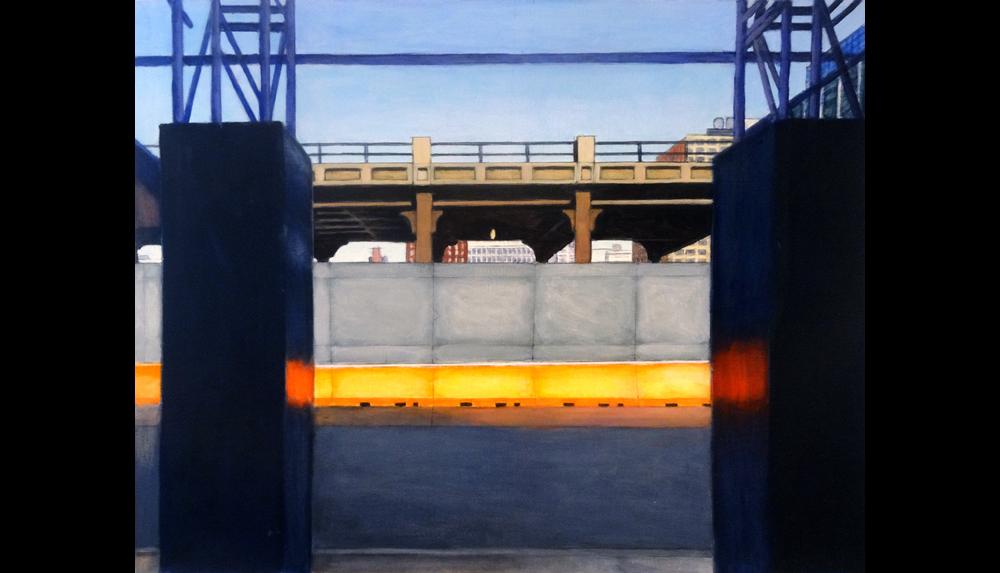 "Orange 2, 2013,  Acrylic on paper, unframed, 20 x 15"""