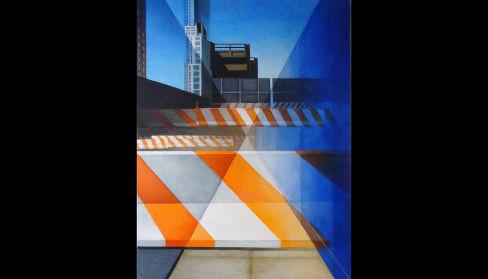 """Orange 3 , 2013, Acrylic on linen,30 x 40"""""""
