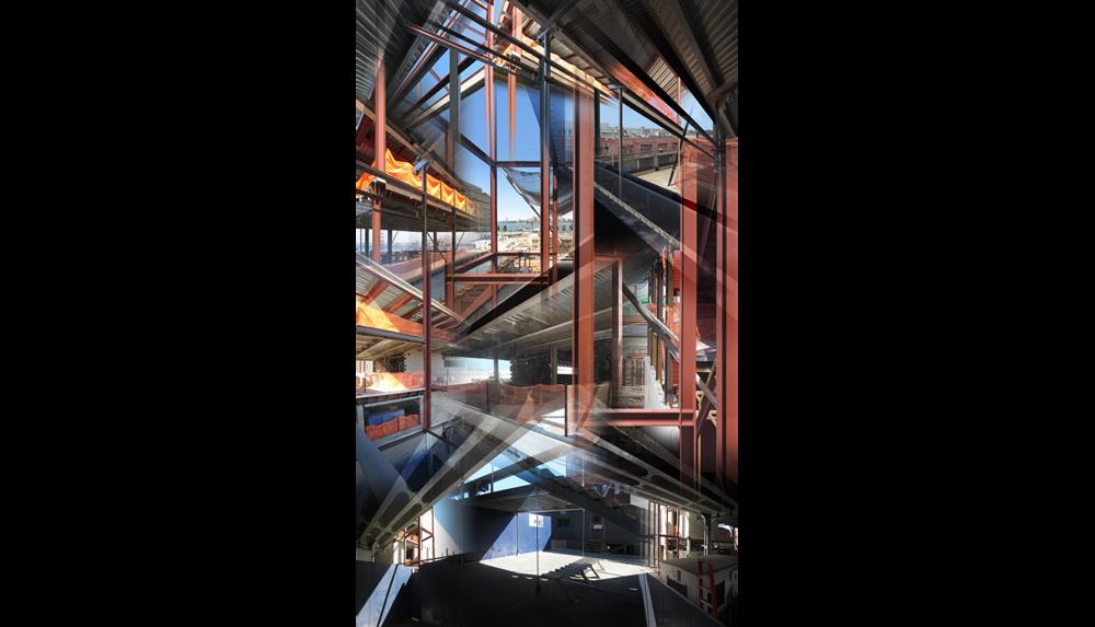 "New Whitney (Under Construction) , 2014, Digital C print, 26 x 50"""