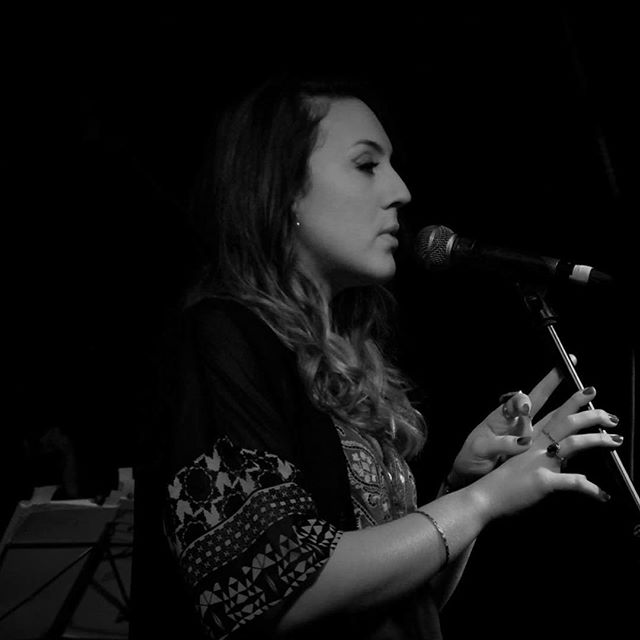 Great shot of Lucie from last weeks gig at @nightanddaycafe with @classicalev. Lucie looking #onfleek, #sassy and full of #soul as per! #singer #gig #jazz #femalesinger #bw