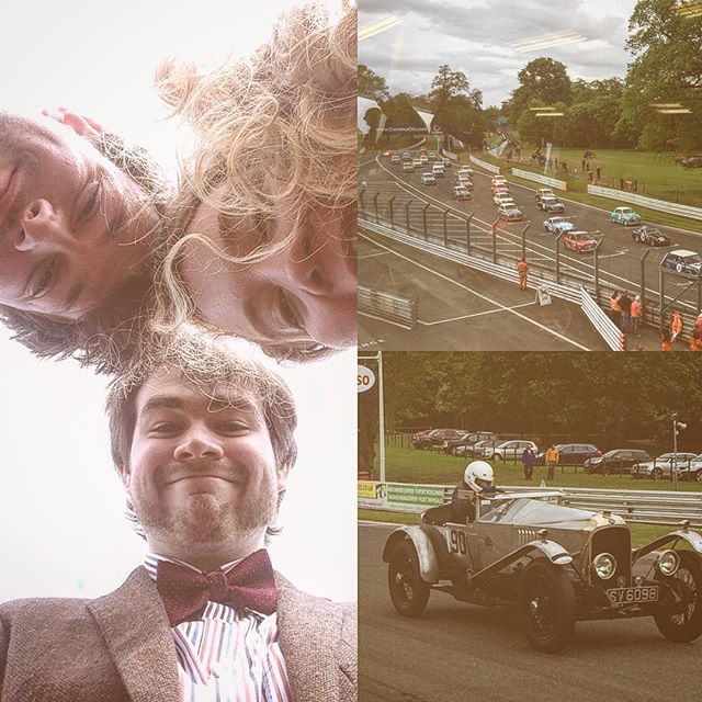A day out at the vintage races for MonoChromatix Jazz quintet today. We also got a lovely tour of the garages, pit stop and race control. Hope we made the day a little sunnier with some Dixieland jazz. #vintage #car #race #musicians #oultonpark