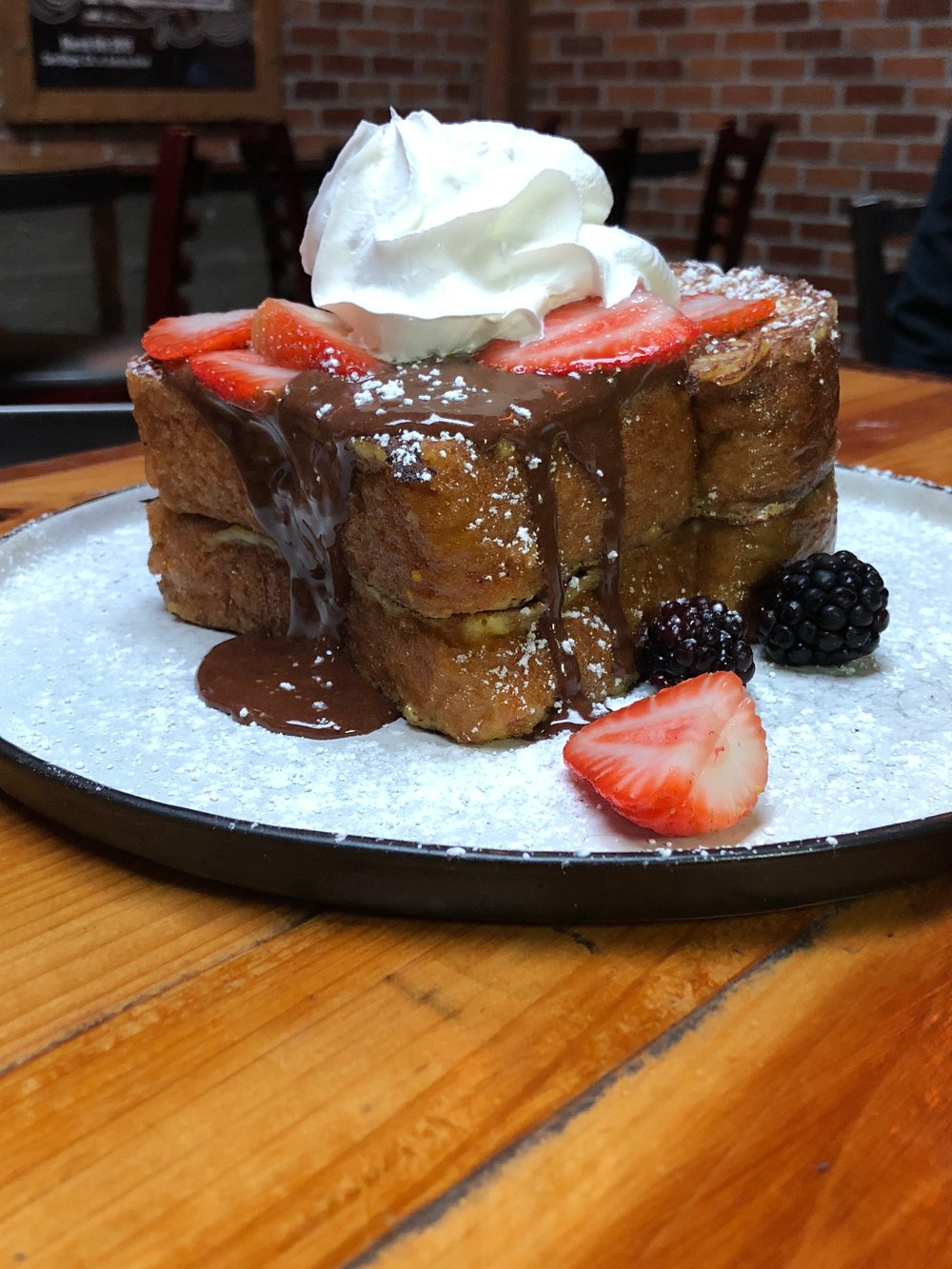 french toast super sized the garage kitchen and bar gaslamp brunch bloody mary obsessed.jpg