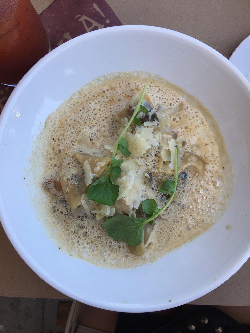 et voila frech bistro aux champignons mushroom ravioli noeth park brunch bloody mary obsessed.jpg