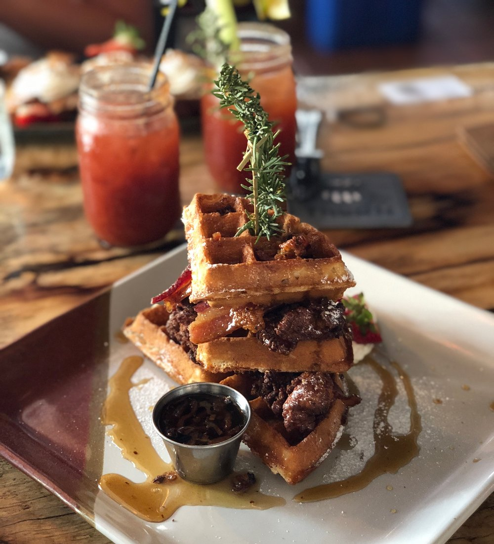 brunchafced bloody mary obsessed mlk weekend the corner draft house bankers hill chicken and waffles .jpg