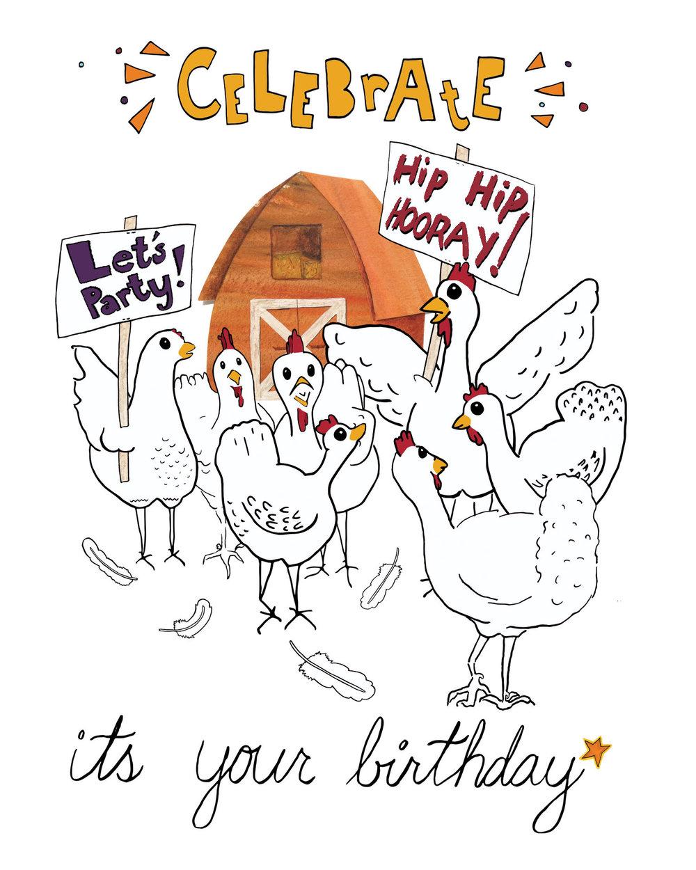 Celebrate- Birthday Card
