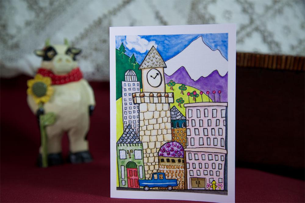 Cityscape - Blank Card
