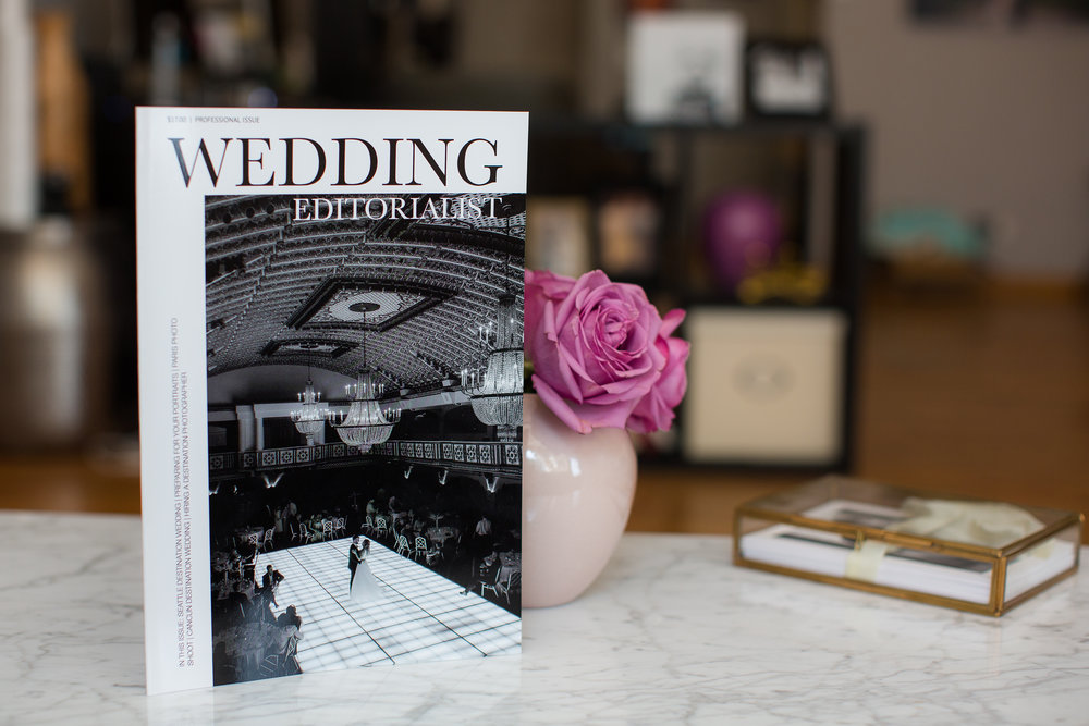 An entire wedding magazine dedicated to you from cover to cover.  In print, and available online.  www.weddingeeditorialist.com #weddingmagazine #weddinggift #weddingfavor