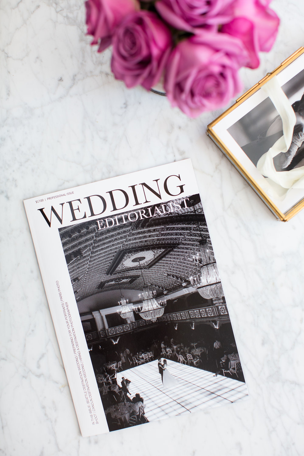Printed Wedding Magazine.  An entire wedding magazine dedicated to you from cover to cover.  In print, and available online.  www.weddingeeditorialist.com #weddingmagazine #weddinggift #weddingfavor