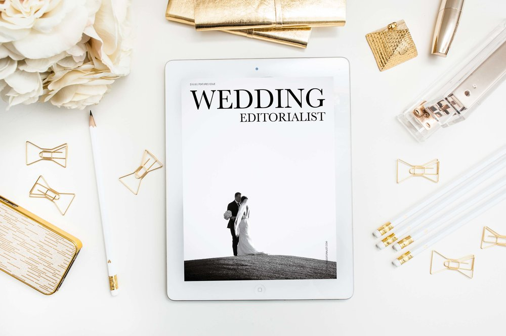 PERSONAL ISSUE:  The Wedding Editorialist dedicates this issue to Lauren & Cory. Their wedding at  Revere Golf Course  was photographed by Joe Kim of  Studio JK  in Colorado. The space was beautifully designed by  Naakiti Floral ...An elegant wedding fit for a couple with a timeless love.   CLICK HERE TO READ.