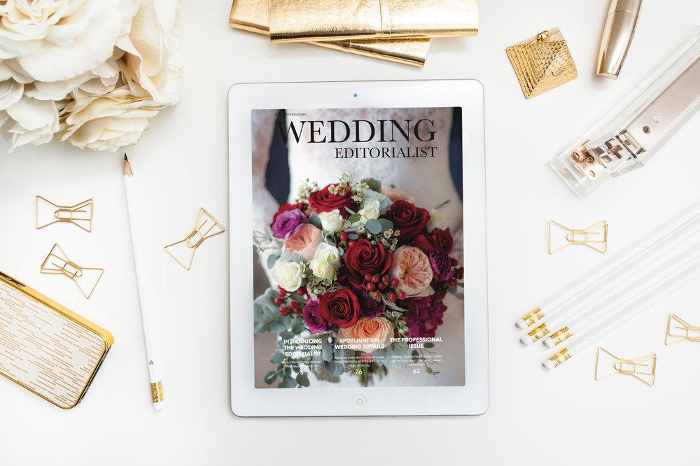 Marketing piece for professional wedding photographer.