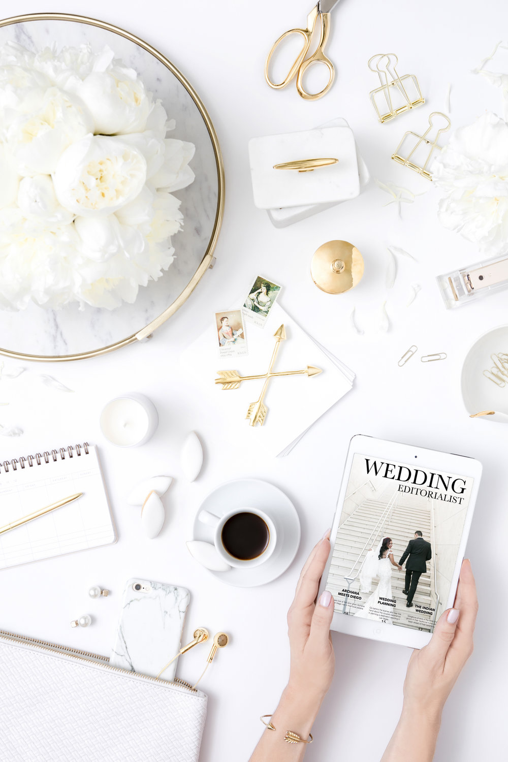 Custom Wedding Magazine celebrating Archana and Diego. Wedding planning by Andrea Eppolito. Images by J. Anne Photography.