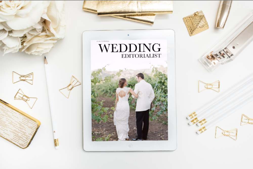 The Wedding Editorialist featured The Estate Yountville in a digital magazine for couples planning weddings in Napa Valley.