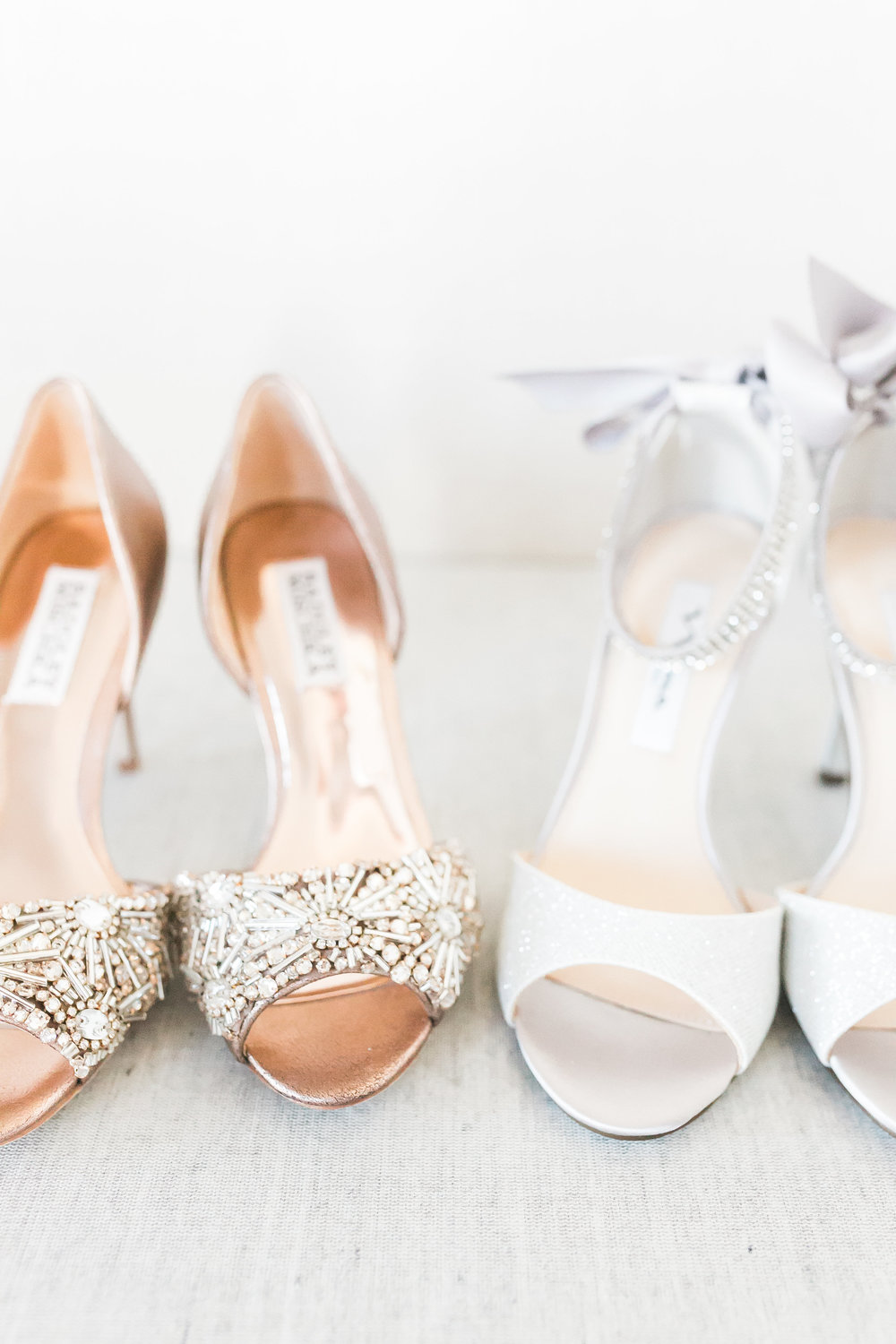 The bride wore two pairs of shoes, one for each outfit.    Las Vegas Wedding Planner Andrea Eppolito.  www.andreaeppolitoevents.com  Photo by J.Anne Photography.  www.j-annephotography.com  As seen on The  Wedding Editorialist  Wedding Blog.