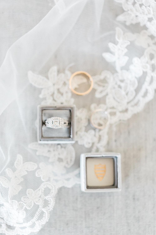 Engagement ring in monogrammed velvet ring box.  Las Vegas Wedding Planner Andrea Eppolito. www.andreaeppolitoevents.com  Photo by J.Anne Photography. www.j-annephotography.com  As seen on The  Wedding Editorialist  Wedding Blog.