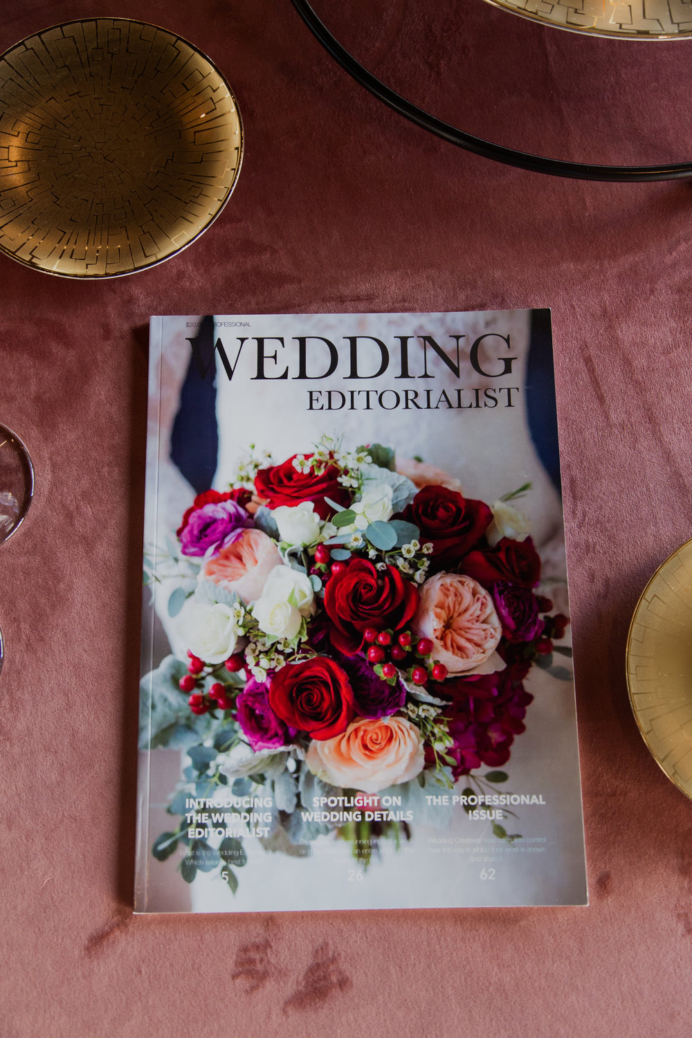 Personalized wedding magazines! Made to order for couples in love. Photo by Adam Frazier.