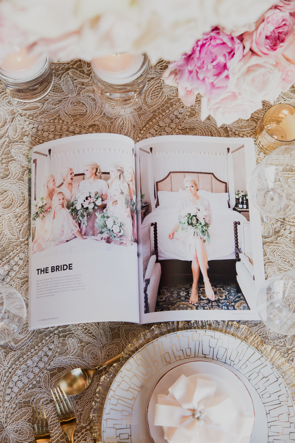 Create a custom wedding magazine about your wedding today!Personalized wedding magazines! Made to order for couples in love. Photo by Adam Frazier.