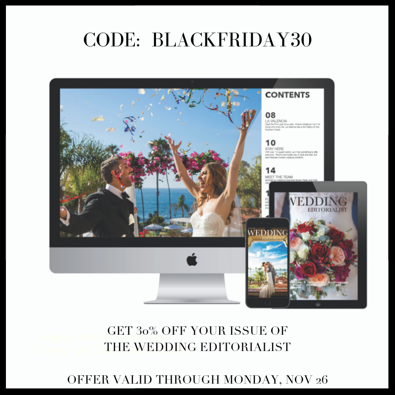 Get 30% off on your issue of The Wedding Editorialist