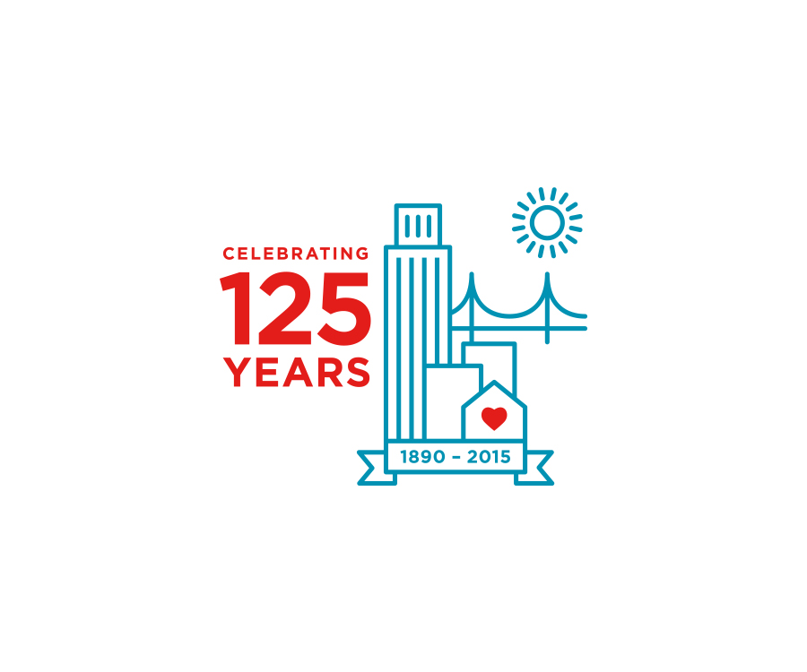 Anniversary mark for a San Francisco nonprofit dedicated to helping their community for over 125 years