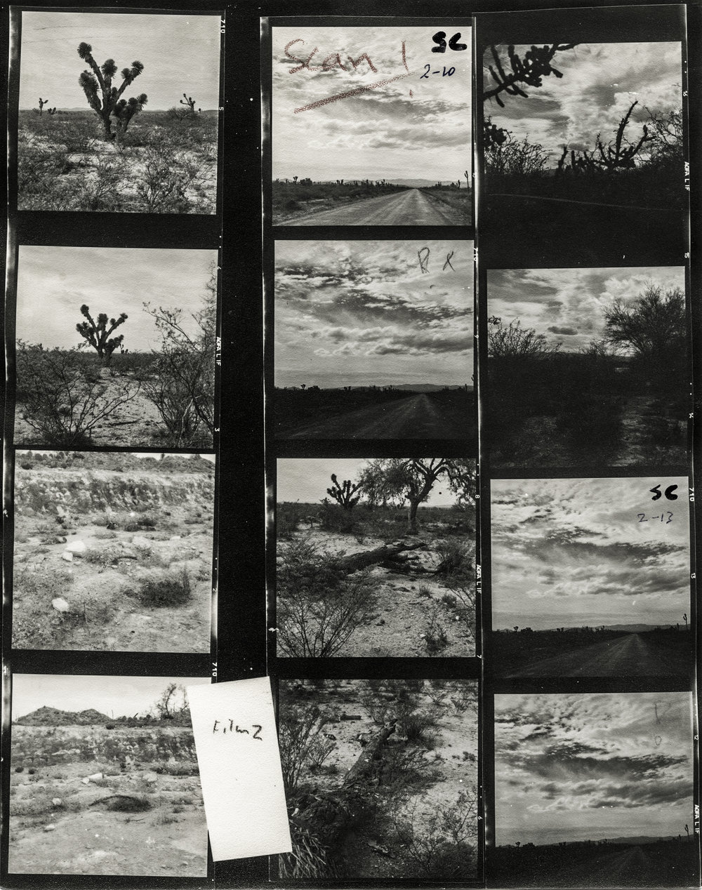 Bob's Contact Sheet of film #2. Mexico. CA.1961.