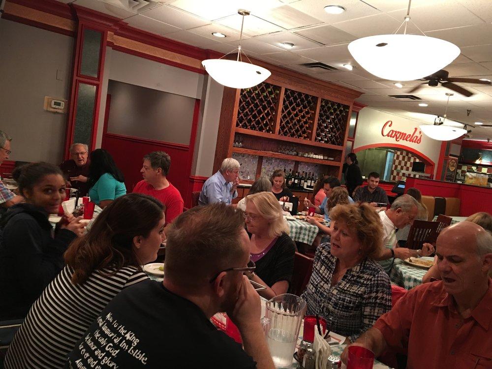 Dinner at Carmela's in Longwood