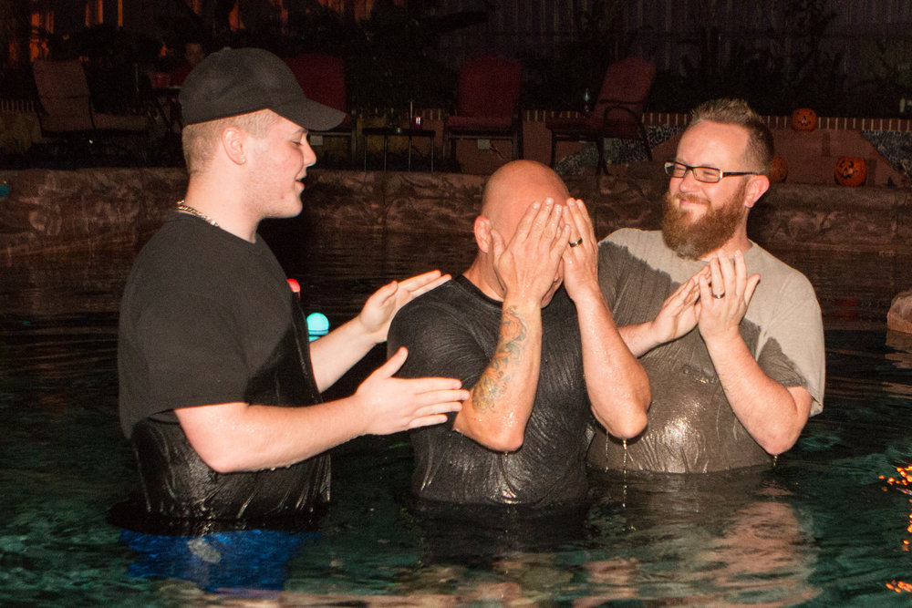 Mike Gets Baptized