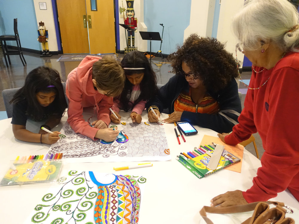 Color-in poster engaging the young and old. Read more about Selah Art Response on wordpress.