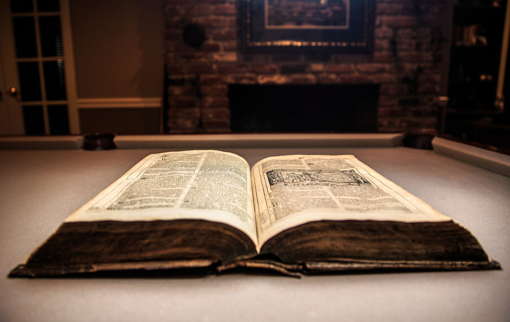 A luther Bible, owned by one of the members of abel house