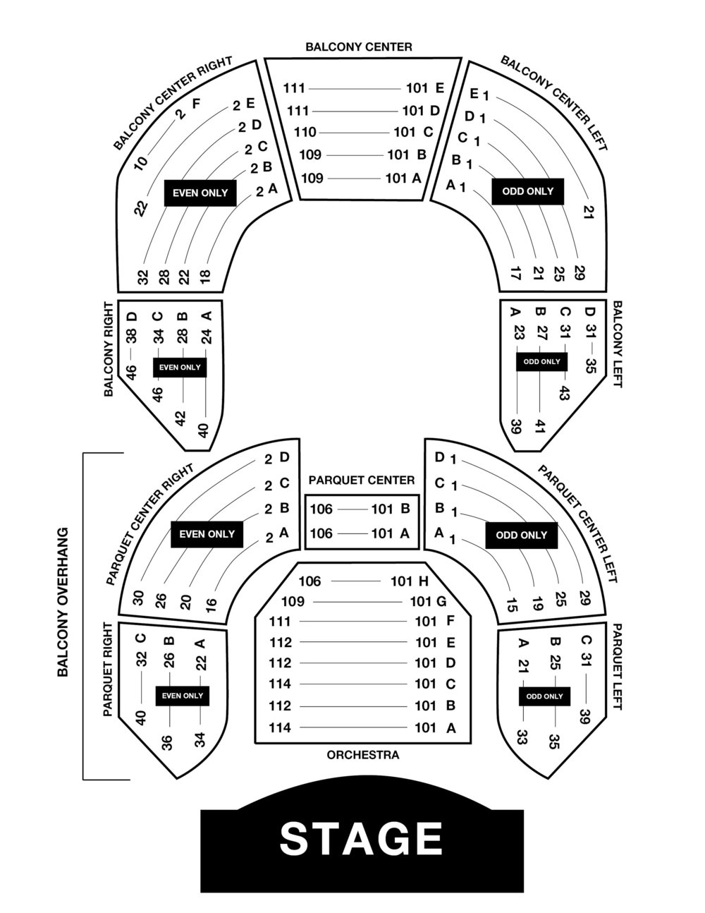 Venue Seating Chart -