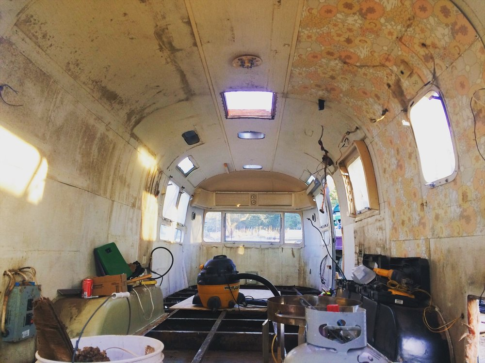 Airstream as workstation. January 2017.