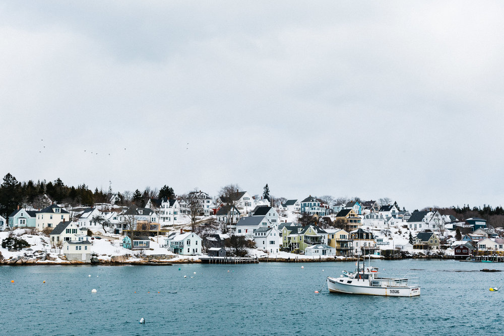 Stonington Harbor, late March. Photo by Justin Levesque for TFC, 2018.