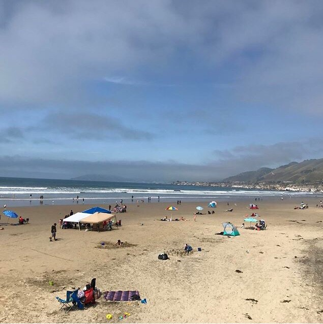 Morro Rock is a favorite surf destination in our family.